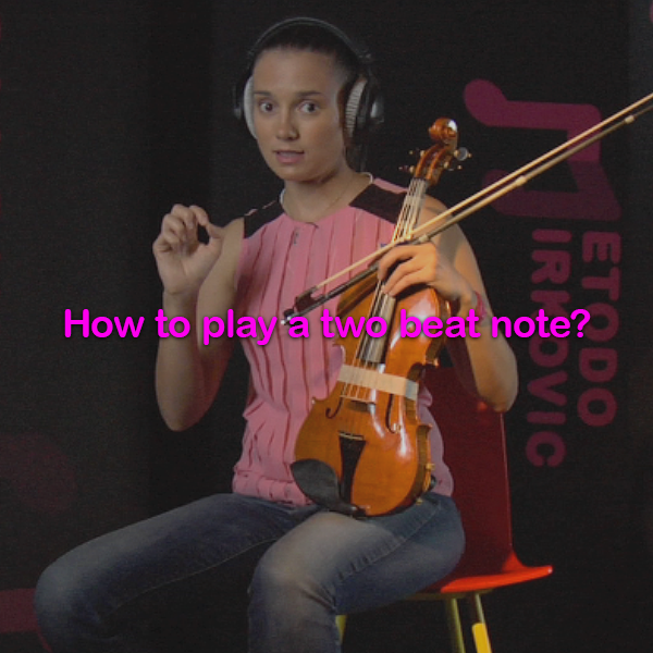 Lesson 013:How to play a two beat note? - violino online, play violin online,   - tocar violin online, уроки игры на скрипке, Metodo Mirkovic - cours de violon en ligne, geige online lernen