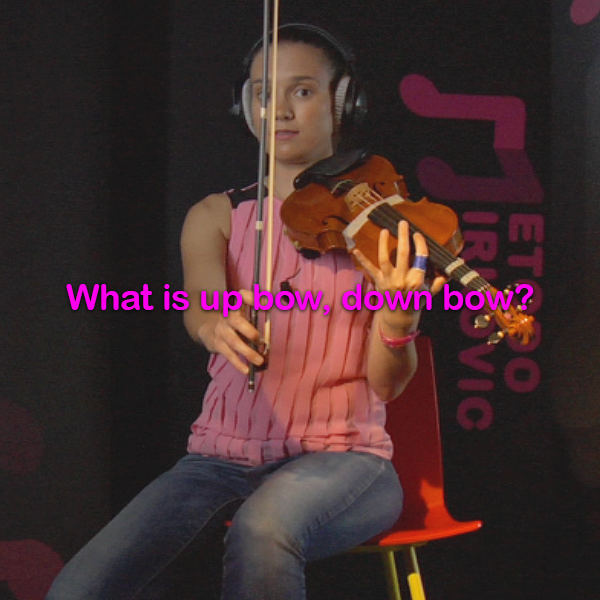 Lesson 015:What is up bow, down bow? - violino online, play violin online,   - tocar violin online, уроки игры на скрипке, Metodo Mirkovic - cours de violon en ligne, geige online lernen