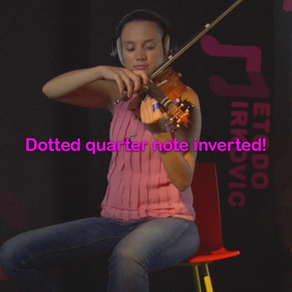 Lesson 018:Dotted quarter note inverted! - violino online, play violin online,   - tocar violin online, уроки игры на скрипке, Metodo Mirkovic - cours de violon en ligne, geige online lernen