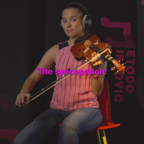 Lesson 019:The syncopation! - violino online, play violin online,   - tocar violin online, уроки игры на скрипке, Metodo Mirkovic - cours de violon en ligne, geige online lernen