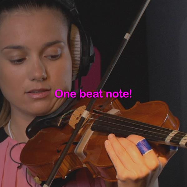 Lesson 021:One beat note! - violino online, play violin online,   - tocar violin online, уроки игры на скрипке, Metodo Mirkovic - cours de violon en ligne, geige online lernen