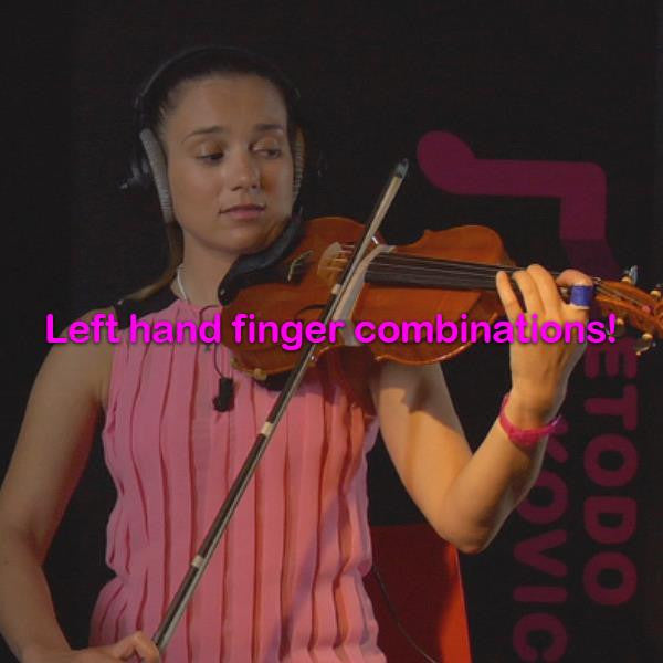 Lesson 031:Left hand finger combinations! - violino online, play violin online,   - tocar violin online, уроки игры на скрипке, Metodo Mirkovic - cours de violon en ligne, geige online lernen