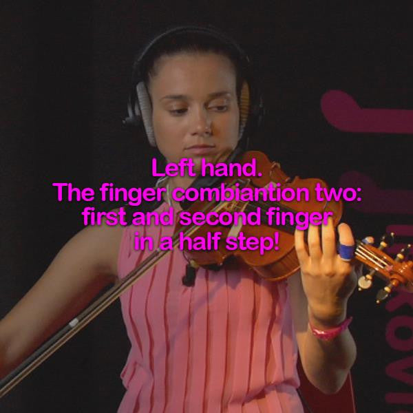 Lesson 032:Left hand.The finger combiantion two: first and second finger in a half step! - violino online, play violin online,   - tocar violin online, уроки игры на скрипке, Metodo Mirkovic - cours de violon en ligne, geige online lernen