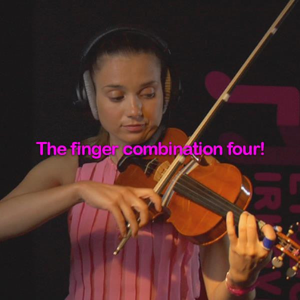 Lesson 034:The finger combination four! - violino online, play violin online,   - tocar violin online, уроки игры на скрипке, Metodo Mirkovic - cours de violon en ligne, geige online lernen