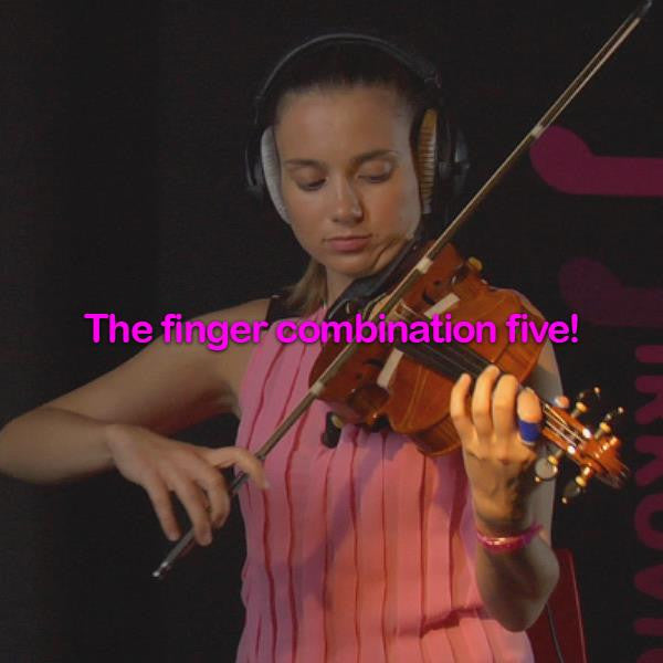 Lesson 035:The finger combination five! - violino online, play violin online,   - tocar violin online, уроки игры на скрипке, Metodo Mirkovic - cours de violon en ligne, geige online lernen