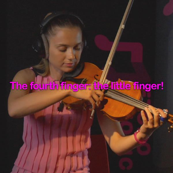 Lesson 036:The fourth finger: the little finger! - violino online, play violin online,   - tocar violin online, уроки игры на скрипке, Metodo Mirkovic - cours de violon en ligne, geige online lernen