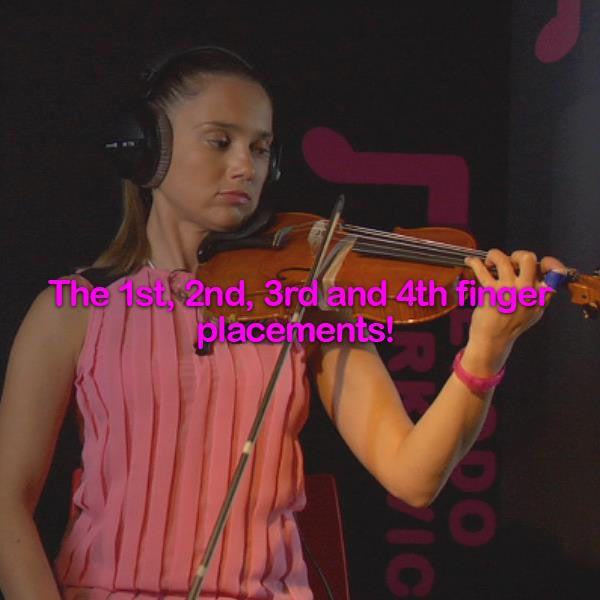 Lesson 040:The 1st, 2nd, 3rd and 4th finger placements! - violino online, play violin online,   - tocar violin online, уроки игры на скрипке, Metodo Mirkovic - cours de violon en ligne, geige online lernen