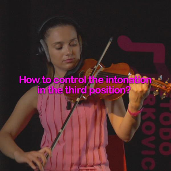 Lesson 042:How to control the intonation in the third position? - violino online, play violin online,   - tocar violin online, уроки игры на скрипке, Metodo Mirkovic - cours de violon en ligne, geige online lernen