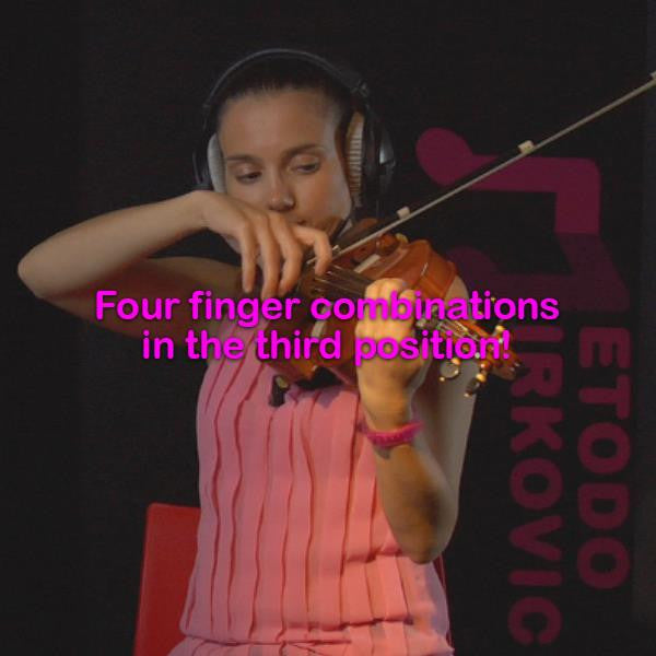 Lesson 044:Four finger combinations in the third position! - violino online, play violin online,   - tocar violin online, уроки игры на скрипке, Metodo Mirkovic - cours de violon en ligne, geige online lernen
