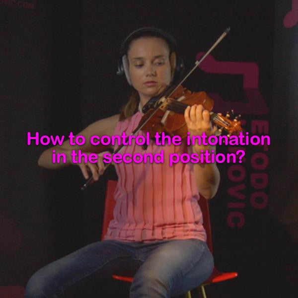 Lesson 048:How to control the intonation in the second position? - violino online, play violin online,   - tocar violin online, уроки игры на скрипке, Metodo Mirkovic - cours de violon en ligne, geige online lernen