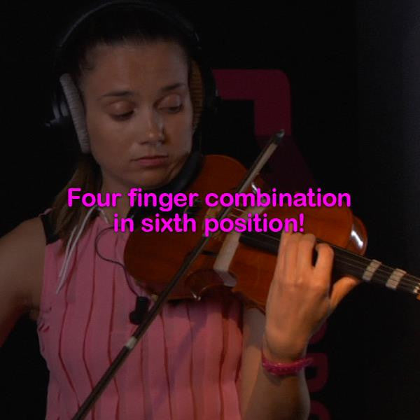 Lesson 054a:Four finger combinations in sixth position! - violino online, play violin online,   - tocar violin online, уроки игры на скрипке, Metodo Mirkovic - cours de violon en ligne, geige online lernen