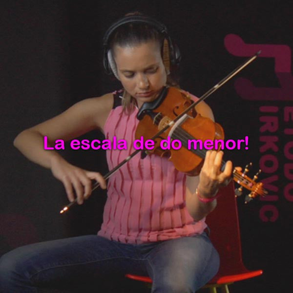 064:  la    escala    de    do    minor! - violino online, play violin online,   - tocar violin online, уроки игры на скрипке, Metodo Mirkovic - cours de violon en ligne, geige online lernen