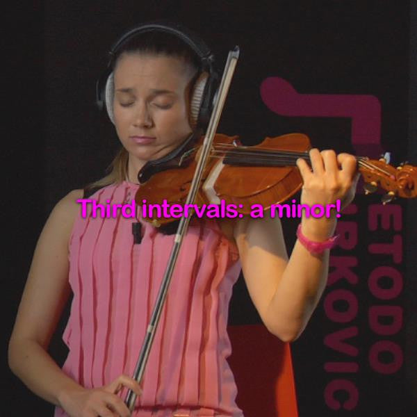 Lesson 084: Third intervals: a minor! - violino online, play violin online,   - tocar violin online, уроки игры на скрипке, Metodo Mirkovic - cours de violon en ligne, geige online lernen