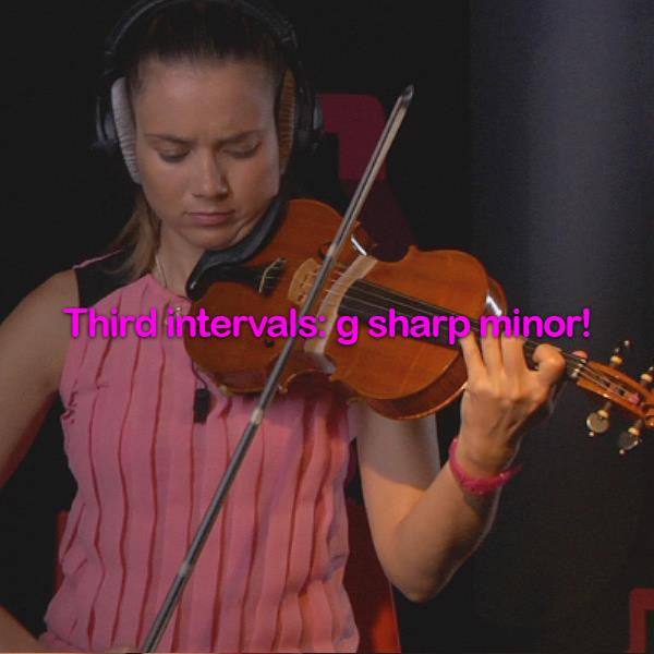 Lesson 094:Third intervals: g sharp minor! - violino online, play violin online,   - tocar violin online, уроки игры на скрипке, Metodo Mirkovic - cours de violon en ligne, geige online lernen
