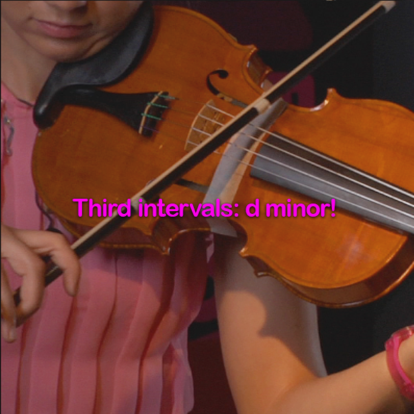 Lesson 096: Third intervals:  d minor! - violino online, play violin online,   - tocar violin online, уроки игры на скрипке, Metodo Mirkovic - cours de violon en ligne, geige online lernen