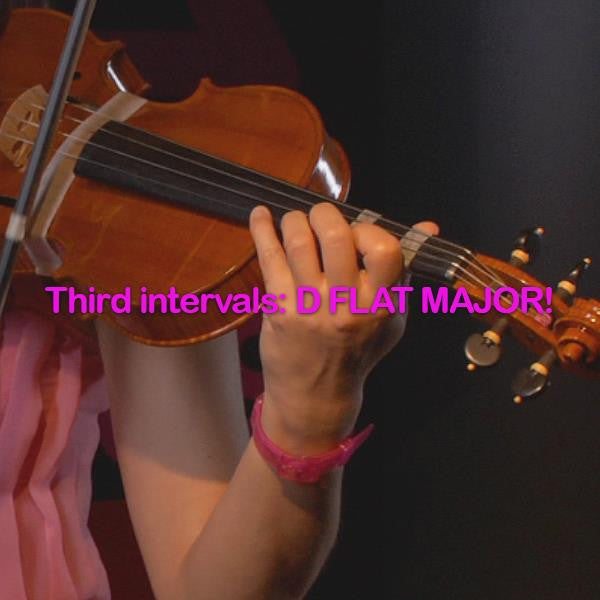 Lesson 103: Third intervals:D FLAT MAJOR! - violino online, play violin online,   - tocar violin online, уроки игры на скрипке, Metodo Mirkovic - cours de violon en ligne, geige online lernen
