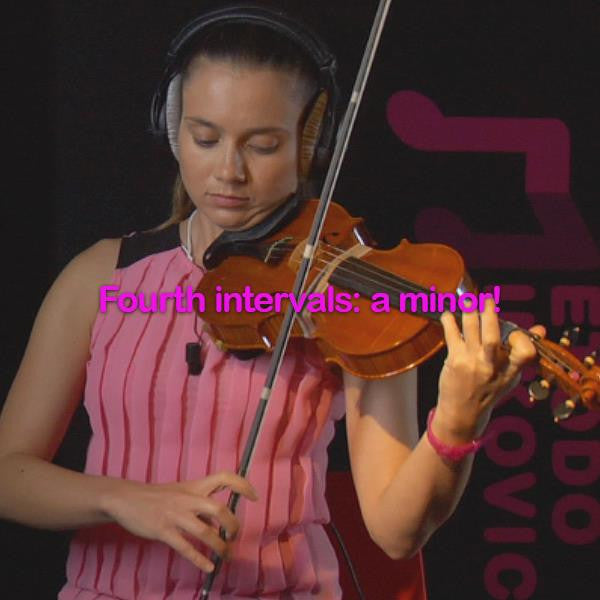 Lesson 108: Fourth intervals:a minor! - violino online, play violin online,   - tocar violin online, уроки игры на скрипке, Metodo Mirkovic - cours de violon en ligne, geige online lernen
