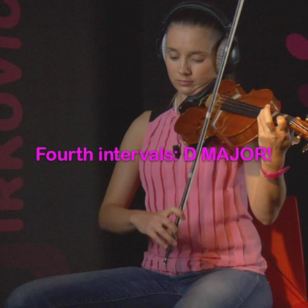 Lesson 111: Fourth intervals:D MAJOR! - violino online, play violin online,   - tocar violin online, уроки игры на скрипке, Metodo Mirkovic - cours de violon en ligne, geige online lernen
