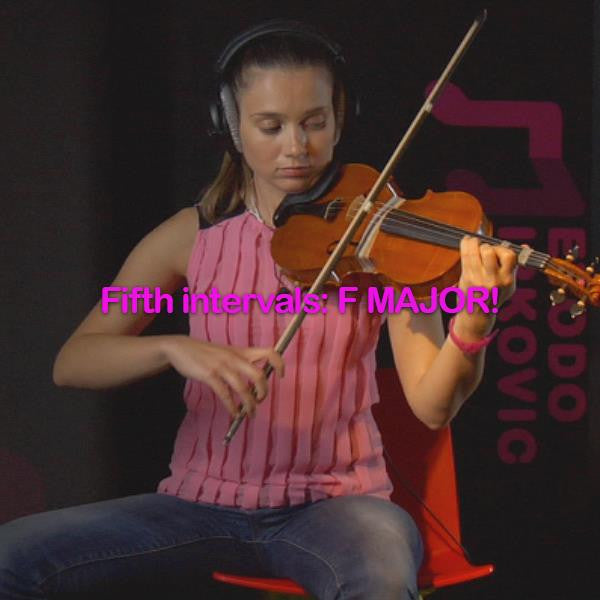 Lesson 123: Fifth intervals: F MAJOR! - violino online, play violin online,   - tocar violin online, уроки игры на скрипке, Metodo Mirkovic - cours de violon en ligne, geige online lernen