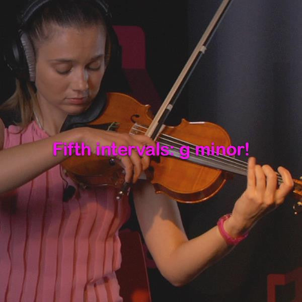 Lesson 126: Fifth intervals: g minor! - violino online, play violin online,   - tocar violin online, уроки игры на скрипке, Metodo Mirkovic - cours de violon en ligne, geige online lernen