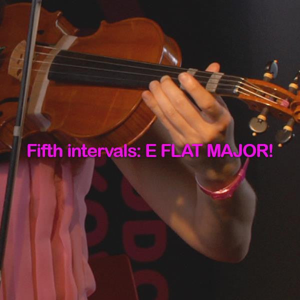 Lesson 127: Fifth intervals: E FLAT MAJOR! - violino online, play violin online,   - tocar violin online, уроки игры на скрипке, Metodo Mirkovic - cours de violon en ligne, geige online lernen