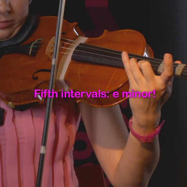 Lesson 130: Fifth intervals: e minor! - violino online, play violin online,   - tocar violin online, уроки игры на скрипке, Metodo Mirkovic - cours de violon en ligne, geige online lernen