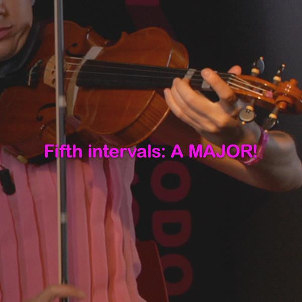 Lesson 133: Fifth intervals: A MAJOR! - violino online, play violin online,   - tocar violin online, уроки игры на скрипке, Metodo Mirkovic - cours de violon en ligne, geige online lernen