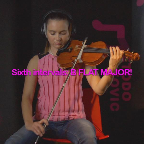 Lesson 139: Sixth intervals:B FLAT MAJOR! - violino online, play violin online,   - tocar violin online, уроки игры на скрипке, Metodo Mirkovic - cours de violon en ligne, geige online lernen