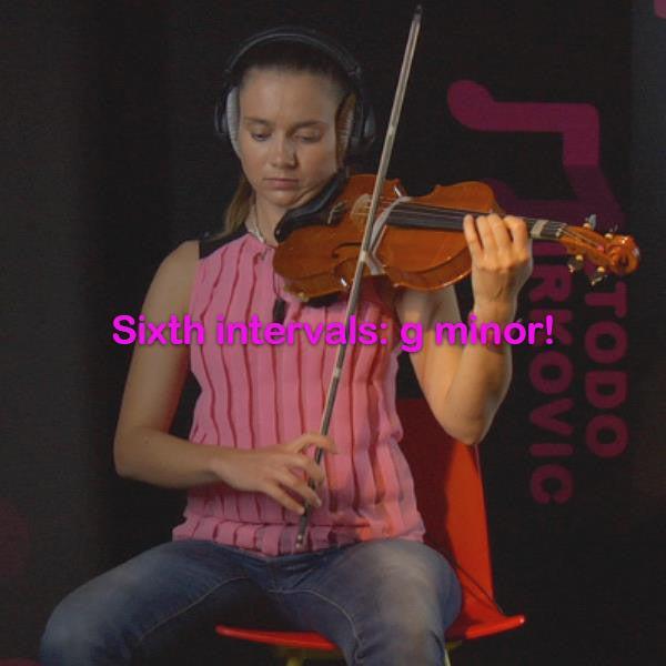 Lesson 140: Sixth intervals: g minor! - violino online, play violin online,   - tocar violin online, уроки игры на скрипке, Metodo Mirkovic - cours de violon en ligne, geige online lernen