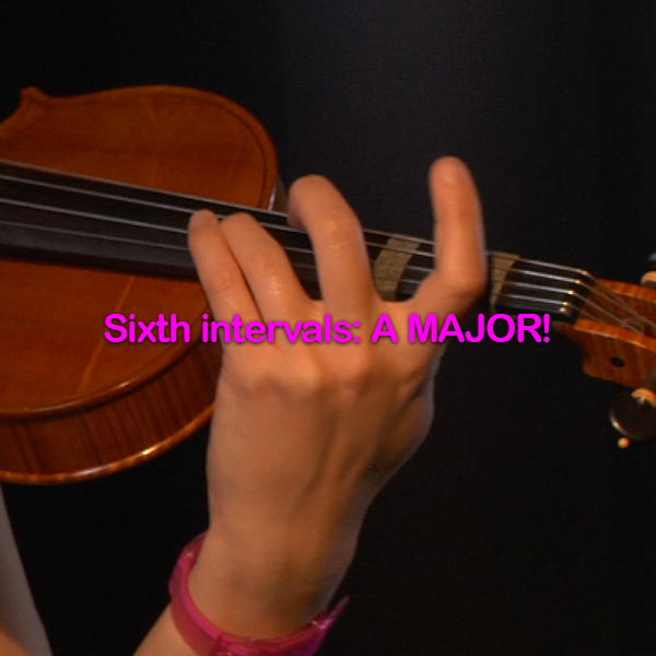 Lesson 147: Sixth intervals: A MAJOR! - violino online, play violin online,   - tocar violin online, уроки игры на скрипке, Metodo Mirkovic - cours de violon en ligne, geige online lernen