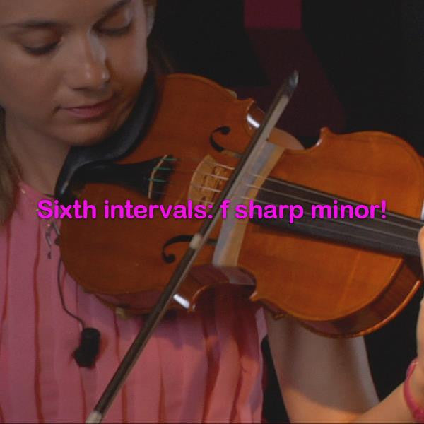 Lesson 148: Sixth intervals: f sharp minor! - violino online, play violin online,   - tocar violin online, уроки игры на скрипке, Metodo Mirkovic - cours de violon en ligne, geige online lernen