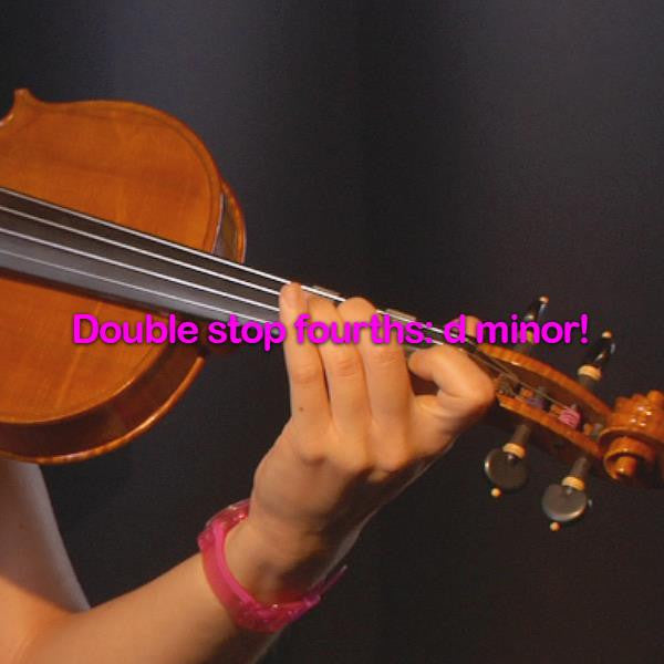 Lesson 177:Double stop fourths: d minor! - violino online, play violin online,   - tocar violin online, уроки игры на скрипке, Metodo Mirkovic - cours de violon en ligne, geige online lernen