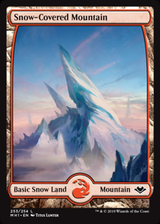 Snow-Covered Mountain - Full Art