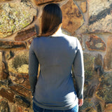 Grey Long Sleeve Nursing Top | Bedondine