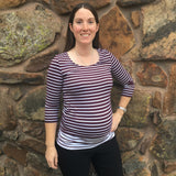Contrast Stripe Maternity & Nursing Top | Milk Nursingwear