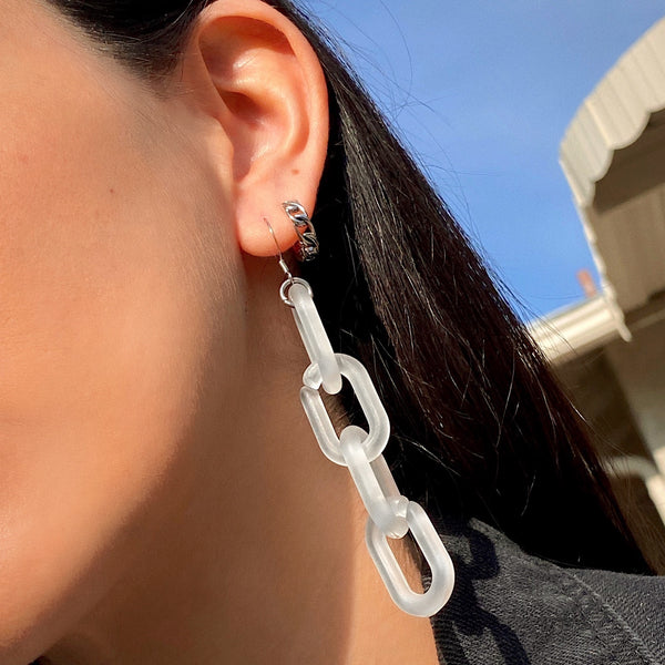 FROSTY CHAIN EARRINGS
