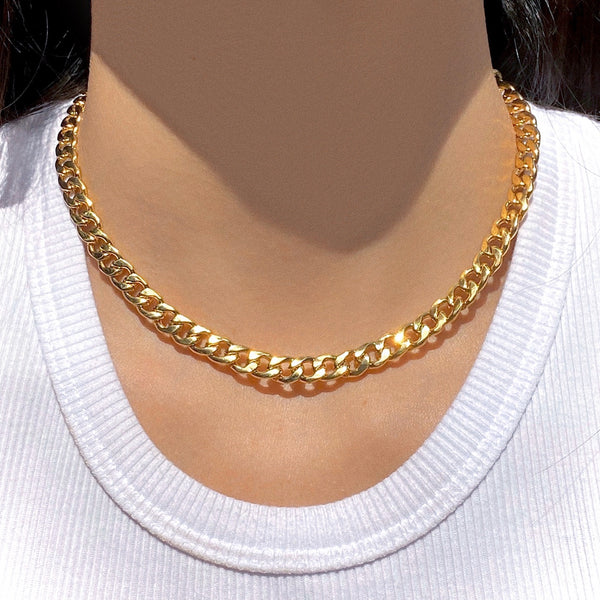 GOLD CURB CHOKER
