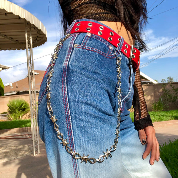 Barbed Wire Wallet Chain