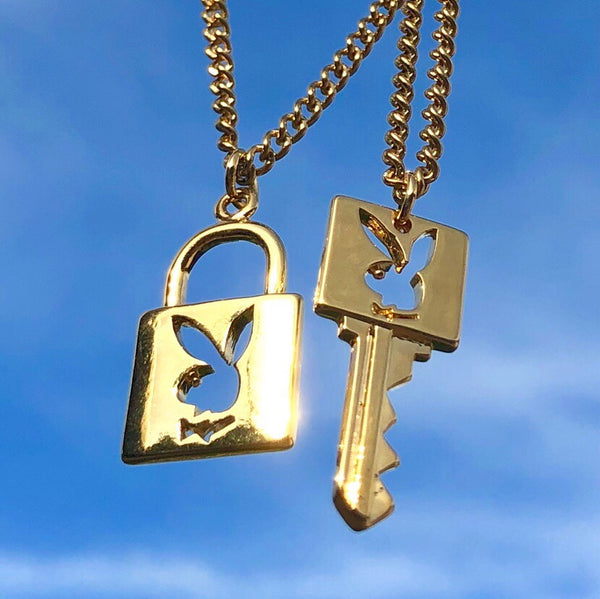 PLAYBOY LOCK AND KEY NECKLACE SET🔑