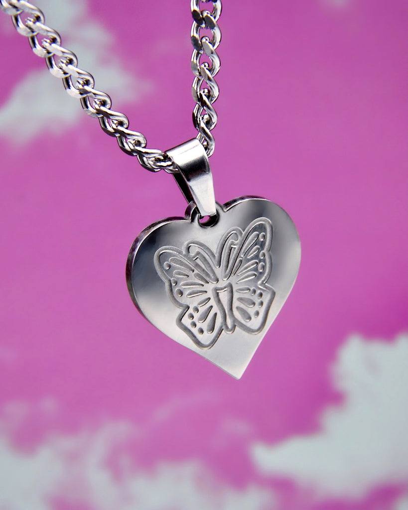 BUTTERFLY IN MY HEART NECKLACE