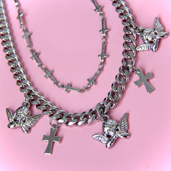 HEAVEN'S ANGEL BABY NECKLACE SET