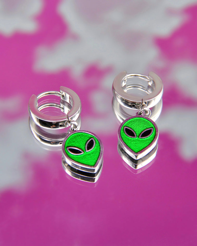 SPACE ALIEN EARRINGS