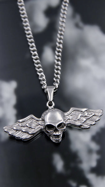 ANGELIC SKULL NECKLACE