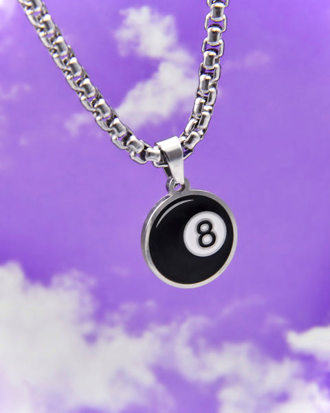 BEHIND THE 8 BALL NECKLACE