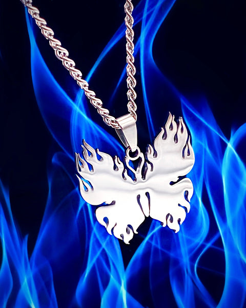 FLAMING BUTTERFLY NECKLACE