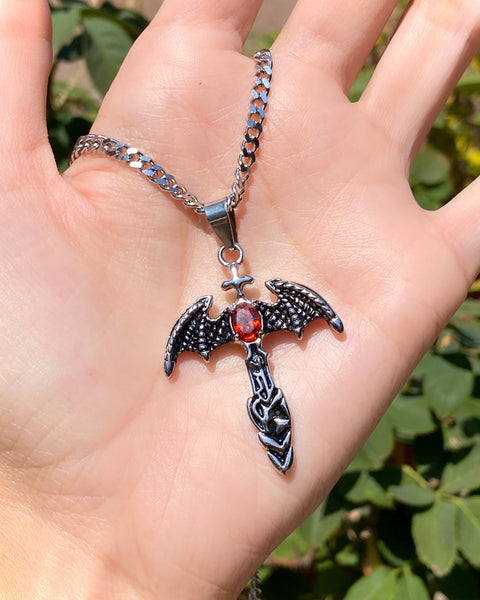 WINGED DAGGER NECKLACE