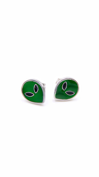SPACE ALIEN STUD EARRINGS