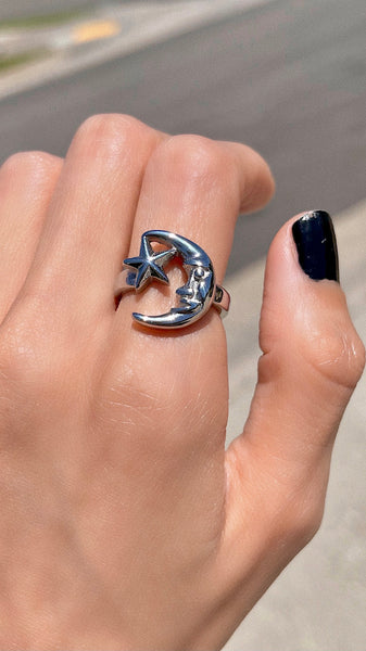 MIDNIGHT MOON RING