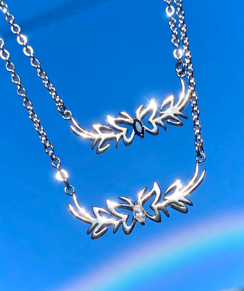 Y2K TRIBAL BUTTERFLY NECKLACE