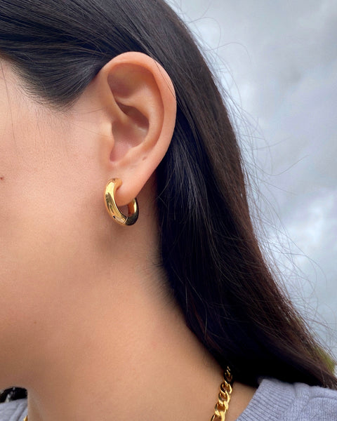 GOLD MINI CHUNKY HOOPS